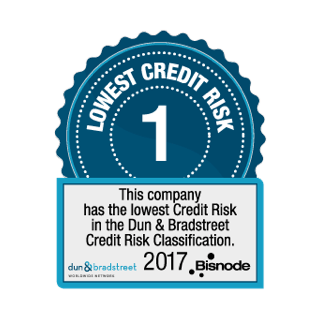 Lowest Credit Risk in the Dun & Bradstreet Classification 2017