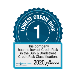 Lowest Credit Risk in the Dun & Bradstreet Classification 2020