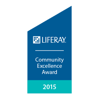 Liferay Community Excellence Award 2015