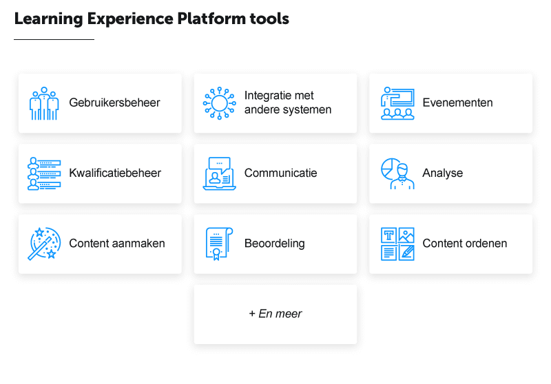Learning Experience Platform tools